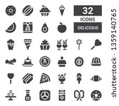 delicious icon set. collection... | Shutterstock .eps vector #1359140765