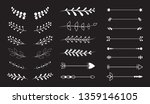 flourish vector ornaments set... | Shutterstock .eps vector #1359146105