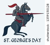 st.george's day card with... | Shutterstock .eps vector #1359150128