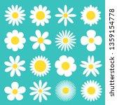 white daisy chamomile icon....   Shutterstock .eps vector #1359154778