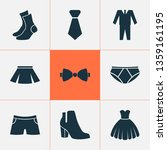 garment icons set with boots ... | Shutterstock . vector #1359161195