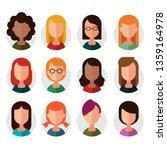 set of avatar icons. vector...   Shutterstock .eps vector #1359164978