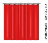 realistic detailed 3d blank red ... | Shutterstock .eps vector #1359169415