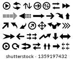 vector set of arrow shapes...   Shutterstock .eps vector #1359197432