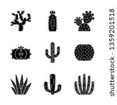wild cactuses glyph icons set.... | Shutterstock .eps vector #1359201518