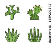 wild cactus color icons set.... | Shutterstock .eps vector #1359201542