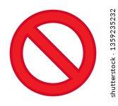 ban icon vector  not allowed... | Shutterstock .eps vector #1359235232