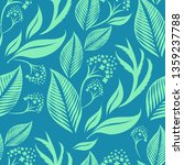 vector seamless floral pattern... | Shutterstock .eps vector #1359237788