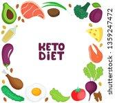keto diet square frame of fresh ... | Shutterstock .eps vector #1359247472