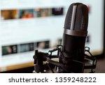 audio recording vocal studio...   Shutterstock . vector #1359248222