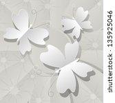butterflies with stars | Shutterstock .eps vector #135925046
