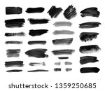 watercolor brush strokes and...   Shutterstock . vector #1359250685