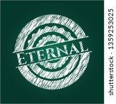 eternal on chalkboard   Shutterstock .eps vector #1359253025