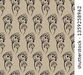 vector seamless floral pattern... | Shutterstock .eps vector #1359258962