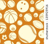 Sport Balls Seamless Pattern ...