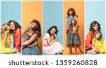 collage about young mother and... | Shutterstock . vector #1359260828