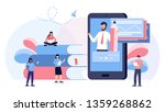 students watching recorded... | Shutterstock .eps vector #1359268862