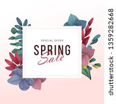 spring sale background with... | Shutterstock .eps vector #1359282668