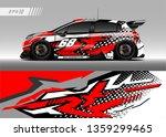 racing car decal design vector. ... | Shutterstock .eps vector #1359299465
