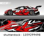 racing car decal design vector. ... | Shutterstock .eps vector #1359299498