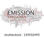 word cloud   emission | Shutterstock . vector #135932495