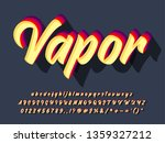 vintage retro font with brush...   Shutterstock .eps vector #1359327212
