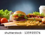 fast food group  photo of  hot... | Shutterstock . vector #135935576