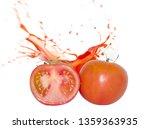 splashing tomato juice isolated ... | Shutterstock . vector #1359363935