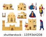 vector set of middle eastern... | Shutterstock .eps vector #1359364208