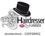 logo for unisex hairdressing...