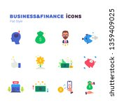 business and finance flat icons ... | Shutterstock .eps vector #1359409025