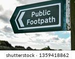 a public footpath sign on the... | Shutterstock . vector #1359418862