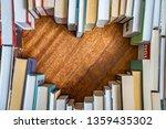 Heart Shape From Books. Love...