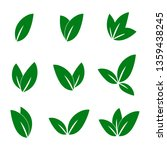 leaf nature icon vector | Shutterstock .eps vector #1359438245