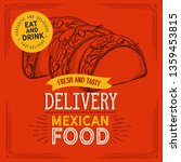 mexican food illustrations  ... | Shutterstock .eps vector #1359453815