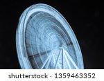 blue lights of ferris wheel at... | Shutterstock . vector #1359463352