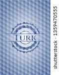 turk blue emblem with geometric ... | Shutterstock .eps vector #1359470555