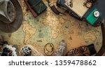 Old Map  Vintage Travel...