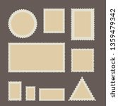 blank postage stamp set....   Shutterstock .eps vector #1359479342
