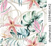 tropical seamless pattern with... | Shutterstock . vector #1359481442