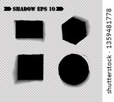 vector shadows isolated. set of ... | Shutterstock .eps vector #1359481778