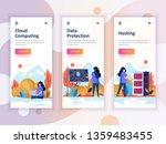 set of onboarding screens user... | Shutterstock .eps vector #1359483455