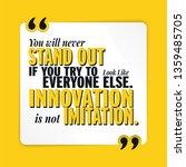 innovation is not imitation... | Shutterstock .eps vector #1359485705