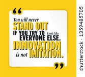 innovation is not imitation...