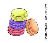 macaron or macaroon biscuits...   Shutterstock .eps vector #1359490295