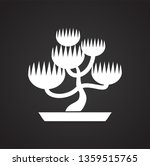 bonsai icon on background for... | Shutterstock .eps vector #1359515765