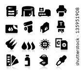 printing icons | Shutterstock .eps vector #135951908