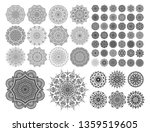 mandalas for coloring book.... | Shutterstock .eps vector #1359519605