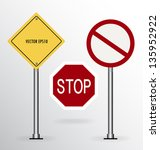 traffic sign. vector... | Shutterstock .eps vector #135952922