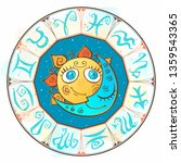 zodiac.  astrological symbol.... | Shutterstock .eps vector #1359543365